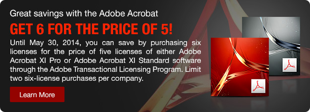 Adobe Acrobat 6for5 promo