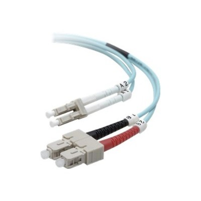 Belkin F2F402L7-03M Network cable - LC/PC multi-mode (M) to SC/PC multi-mode (M) - 3 m - fiber optic - 50 / 125 micron - B2B