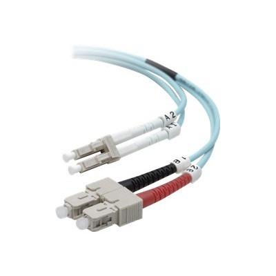 Belkin F2F402L7-05M Network cable - LC/PC multi-mode (M) to SC/PC multi-mode (M) - 5 m - fiber optic - B2B