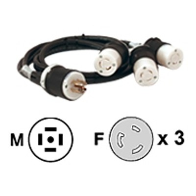 APC AP9883 Power cable - NEMA L5-20 (F) to NEMA L21-20 (M) - black