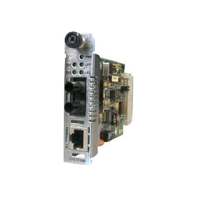 Transition CFETF1013-205 Fiber media converter - 100Mb LAN - 100Base-FX  100Base-TX - RJ-45 / SC multi-mode - up to 1.2 miles - 1300 nm - for Point System Conve