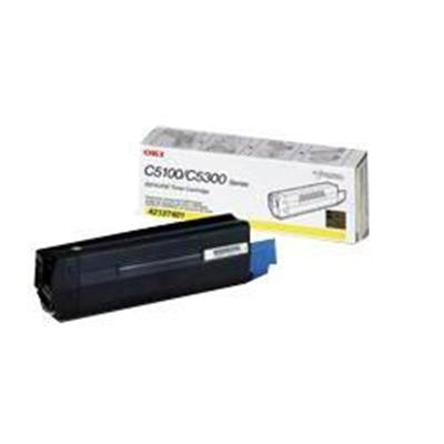 Oki 42127401 Yellow Toner Cartridge for C5100n/C5150n/C5200n/C5300n/C5400 Series/C5510MFP