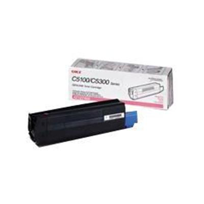 Oki 42127402 Magenta Toner Cartridge for C5100n/C5150n/C5200n/C5300n/C5400 Series/C5510MFP