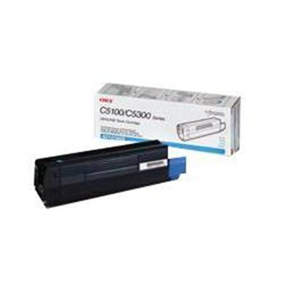 Oki 42127403 Cyan Toner Cartridge for C5100n/C5150n/C5200n/C5300n/C5400 Series/C5510MFP