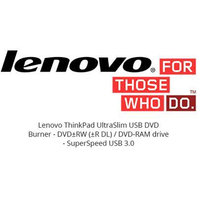 Lenovo 4XA0E97775 ThinkPad UltraSlim USB DVD Burner - Disk drive - DVD±RW (±R DL) / DVD-RAM - SuperSpeed USB 3.0 - external - CRU - for ThinkCentre M800  Thinkp