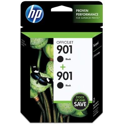HP Inc. CZ075FN#140 901 2-pack Black Original Ink Cartridges