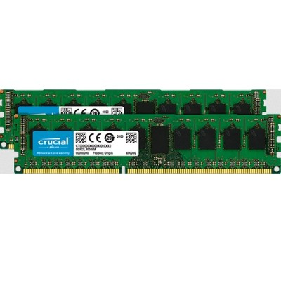 Crucial CT2KIT51272BD160BJ 8GB Kit (4GBx2)  240-pin DIMM  DDR3 PC3-12800  ECC