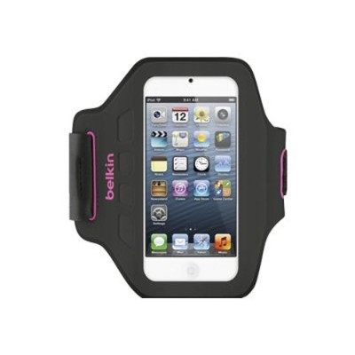 Belkin F8W149TTC01 Ease-Fit Armband - Arm pack for player - neoprene Lycra - day glow - for Apple iPod touch (5G)