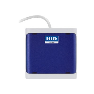 HID R50210218-BL OMNIKEY 5021 CL - SMART card reader - USB 2.0 - blue