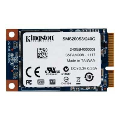 Kingston Digital SMS200S3/240G 240GB SSDNow mSATA SSD - 540Mbps Read