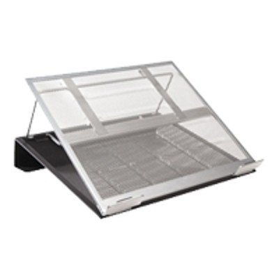 Sanford 82410 Rolodex Laptop Stand - Notebook stand - black silver