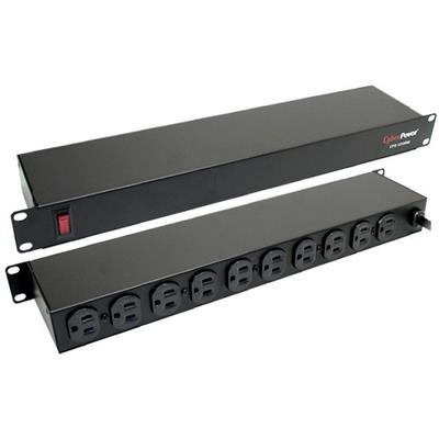 Cyberpower CPS1215RM 10X NEMA 5-15P Outlets Rackmount Power Distribution Unit - 15Ft Cord Length