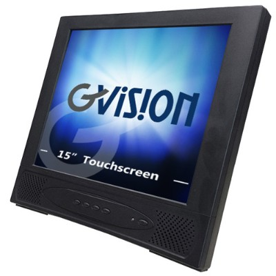 Discount Electronics On Sale GVISION USA L15AX-JA-452G L15AX-JA - LCD monitor - 15 - touchscreen - 1024 x 768 - 250 cd/m2 - 400:1 - 16 ms - VGA - speakers - black