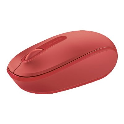 Microsoft U7Z 00031 Wireless Mobile Mouse 1850 Mouse optical 3 buttons wireless 2.4 GHz USB wireless receiver flame red