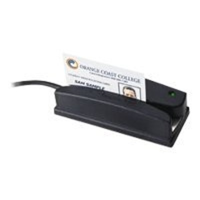 ID TECH WCR3227-512C Omni 3227 Heavy Duty Slot Reader - Magnetic card reader ( Tracks 1 & 2 ) - RS-232 - black