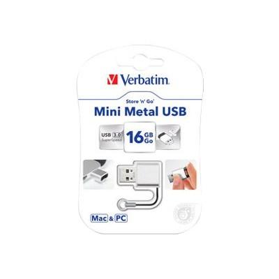 Verbatim 49839 Store 'n' Go Mini Metal - USB flash drive - 16 GB - USB 3.0