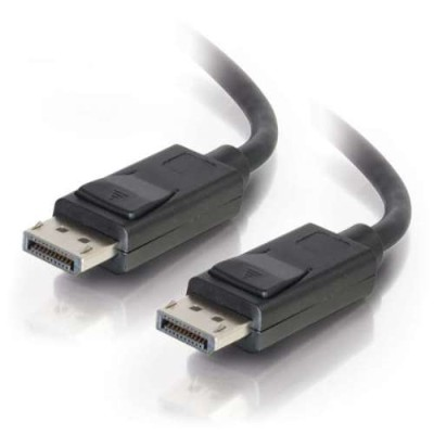 Cables To Go 54401 6ft DisplayPort Cable with Latches M/M - Black