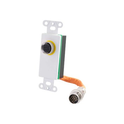 Cables To Go 60077 RapidRun 15 Pin DIN Decorative Style Wall Plate - White - Mounting plate - 15 pin RapidRun - white