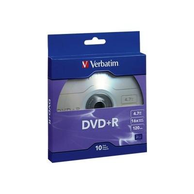 Verbatim 97956 10 x DVD+R - 4.7 GB ( 120min ) 16x - blister