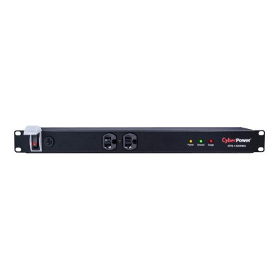 Cyberpower CPS1220RMS Rackbar Surge Protection CPS1220RMS - Surge protector (rack-mountable) - AC 120 V - output connectors: 12 - 1U