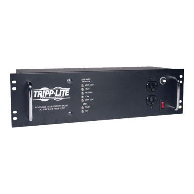 TrippLite LCR2400 2400W 120V 3U Rack-Mount Power Conditioner with Automatic Voltage Regulation (AVR)  AC Surge Protection  14 Outlets