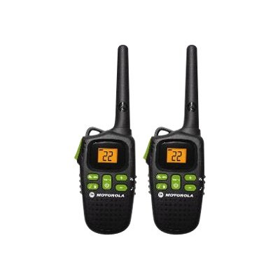 Motorola MD200R Talkabout MD200R - Portable - two-way radio - FRS/GMRS - 22-channel - black (pack of 2)