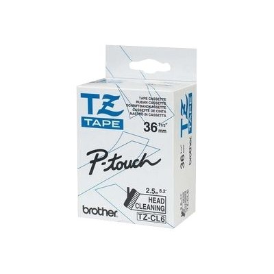 Brother TZECL6 TZeCL6 - Roll (1.42 in x 8.2 ft) 1 roll(s) cleaning tape - for P-Touch PT-3600  530  550  9200  9400  9500  9600  9700  9800  D800  P900  P950