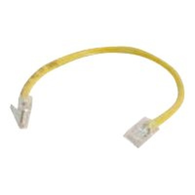 Cables To Go 00966 6in Cat6 Non-Booted Unshielded (UTP) Ethernet Network Patch Cable - Yellow - Patch cable - RJ-45 (M) to RJ-45 (M) - 6 in - UTP - CAT 6 - yell