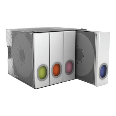 Atlantic 96635495 Parade - Storage media holder - capacity: 96 CD/DVD - clear with white binder