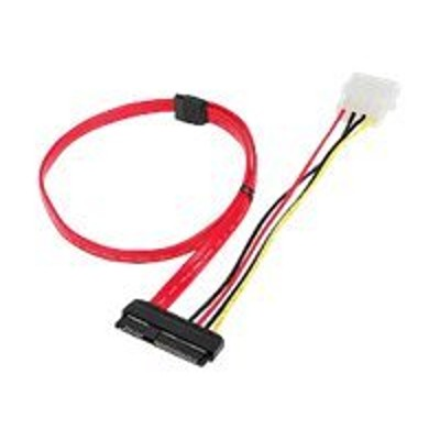SIIG CB-S20811-S1 SFF-8482 to SATA Cable with LP4 Power - SAS internal cable - SAS 6Gbit/s - 29 pin internal SAS (SFF-8482) receptacle to 4 pin internal power