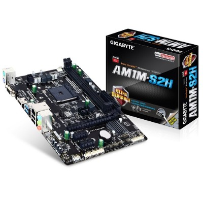 GIGA-BYTE Technology GA-AM1M-S2H GA-AM1M-S2H AMD AM1 Micro ATX Motherboard
