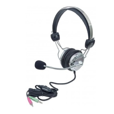 Manhattan 175517 Stereo Headset with In-Line Volume Control 13059631