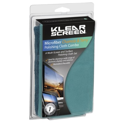 Klear Screen KS-MK-COM Klear Screen Microfiber Chamois & Terry Cloth Combo