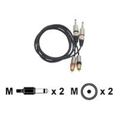 Pyle PPRCJ05 pro PPRCJ05 - Audio cable - mono jack (M) to RCA (M) - 5 ft