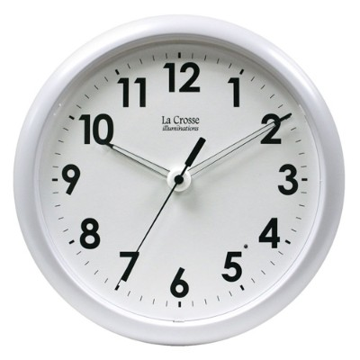 La Crosse Technology 430310 Illuminated 10 Clock - White Frame