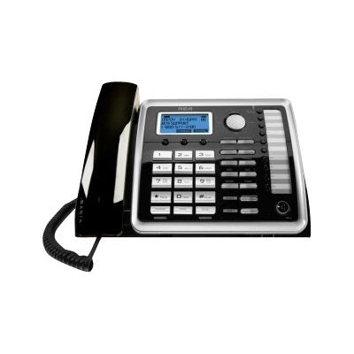 RCA 25260 ViSYS 25216 - Cordless phone with caller ID/call waiting - DECT 6.0 - 2-line operation - black  silver