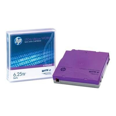 Hewlett Packard Enterprise C7976BW LTO Ultrium WORM 6 - 2.5 TB / 6.25 TB - write-on labels - purple - for StorageWorks SAS Rack-Mount Kit
