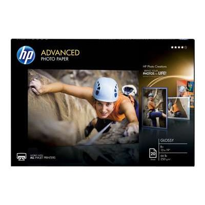 HP Inc. CR696A Advanced Glossy Photo Paper - 20 sheet/A3+/330 x 483 mm (13 x 19 in)