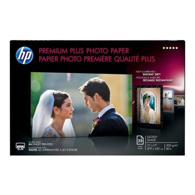 HP Inc. CV065A Premium Plus Glossy Photo Paper - 25 sheet / Tabloid / 11 x 17 in