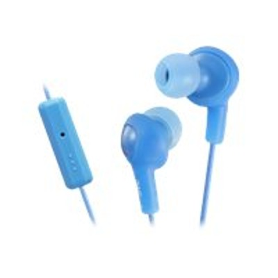 JVC HAFR6A HA-FR6 Gumy PLUS - Headset - in-ear - noise isolating - peppermint blue - for Apple iPod nano (6G)