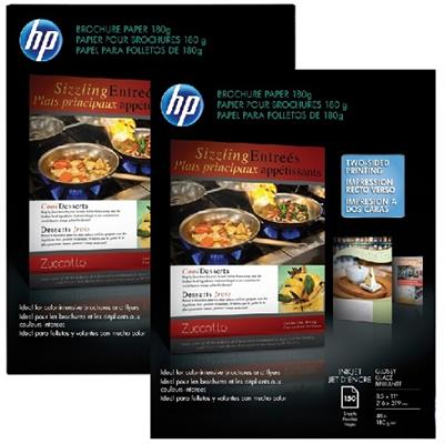 HP Inc. Q1987A-PROMO 2x Glossy Brochure and Flyer Paper - 150 sheet / Letter / 8.5 x 11 in