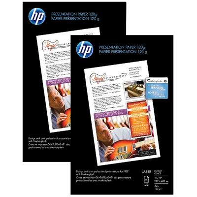 HP Inc. Q2547A-PROMO 2x Premium Glossy Presentation Paper 120 gsm - 250 sheet / Tabloid / 11 x 17 in