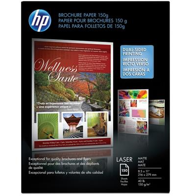HP Inc. Q6543 Laser Matte Brochure Paper 150 gsm - 150 sheet / Letter / 8.5 x 11 in