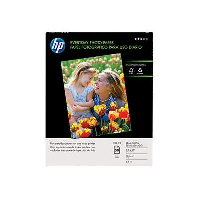 HP Inc. Q8723A Everyday Glossy Photo Paper - 50 sheet / Letter / 8.5 x 11 in