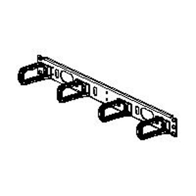Panduit CMPHF1 Open-Access Horizontal Cable Manager - Cable management panel - black - 1U - 19