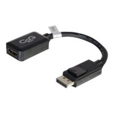 Cables To Go 54322 8in DisplayPort Male to HDMI Female Adapter Converter - Black (TAA Compliant)