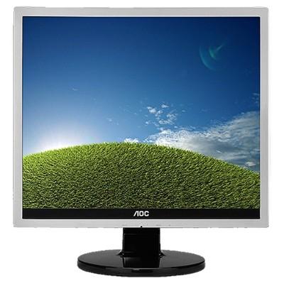 AOC E719SD Professional E719SD - LED monitor - 17 (17 viewable) - 1280 x 1024 - 250 cd/m² - 1000:1 - 5 ms - DVI-D  VGA - black  silver