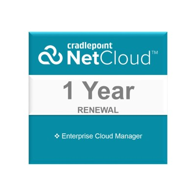 CradlePoint ECM-MT-R1 NetCloud Manager Standard - Subscription license renewal (1 year) - hosted 13159386