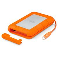 LaCie 2TB Rugged V2 Thunderbolt - USB 3.0 - Professional All-Terrain Storage With Integrated Thunderbolt Cable