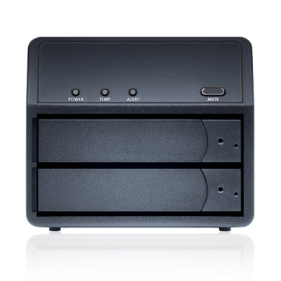 Sans Digital ST-SAN-MR2UT+B MobileRAID MR2UT+B - 2 Bay SATA to eSATA/USB 3.0 RAID 0 / 1 / JBOD / Spanning Enclosure (Black)